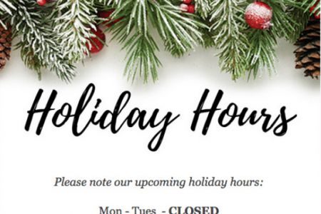 Cats Like Us - Holiday Hours Facebook Post